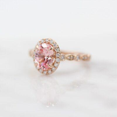 Peach Sapphire Ring