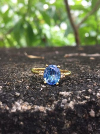 sky blue sapphire ring under 1000