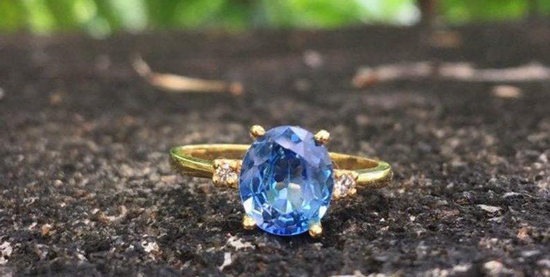 sky blue sapphire ring under 1000