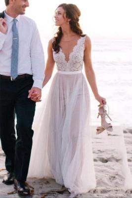 beach wedding dress lace