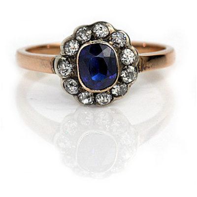 1940 vintage sapphire ring