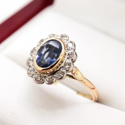 Vintage yellow sapphire ring