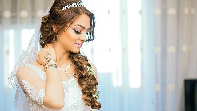 bride hair and makup