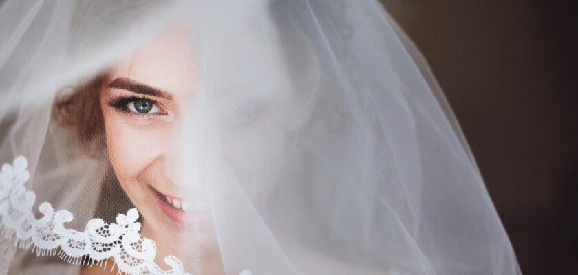 happy stylish bride