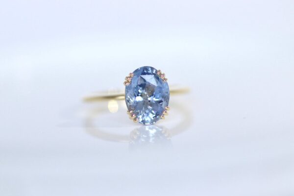 Natural Sky blue sapphire Ring