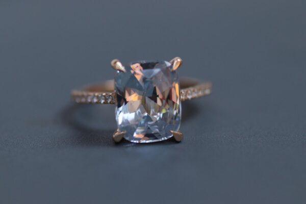 5 carat white sapphire engagement ring